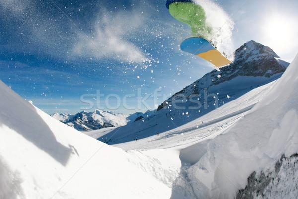 Экстрим фото прыжки зима Сток-фото © pressmaster