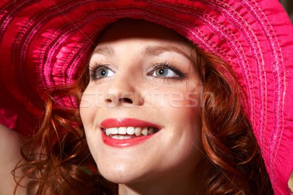 Felice femminile faccia giovani zenzero capelli Foto d'archivio © pressmaster