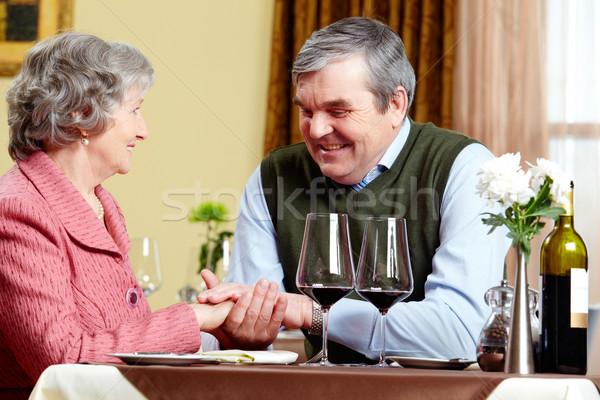 Nyilatkozat szeretet kép férfi készít nő Stock fotó © pressmaster