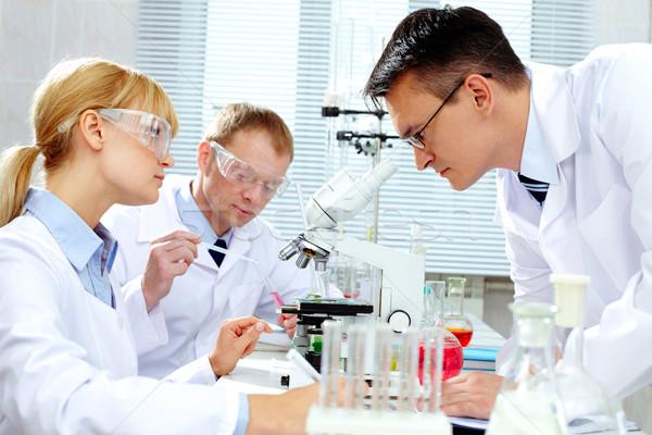 Laboratorium studie groep nieuwe vrouw Stockfoto © pressmaster