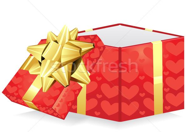 giftbox with bow and hearts   Stock photo © pressmaster