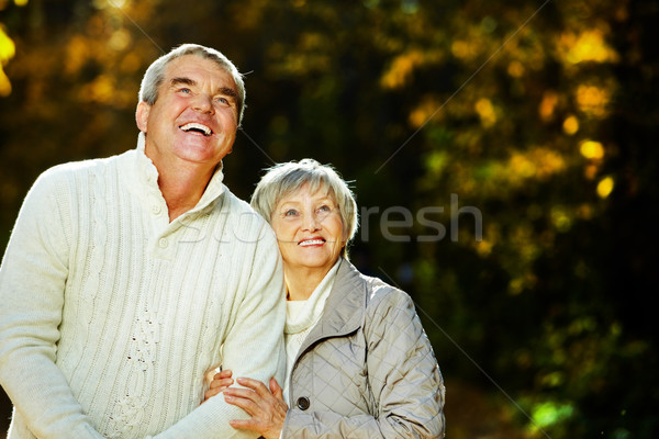 Mąż żona Fotografia starszy czas wolny parku Zdjęcia stock © pressmaster