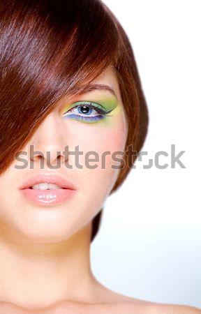 Göz makyajı kadın parlak makyaj Stok fotoğraf © pressmaster