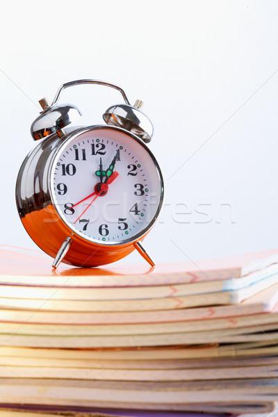 Uhr Wecker Gesicht abstrakten Zeichen Stock foto © pressmaster