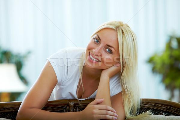 Happy blonde Stock photo © pressmaster