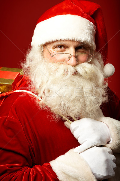 Stock photo: Santa with gifts