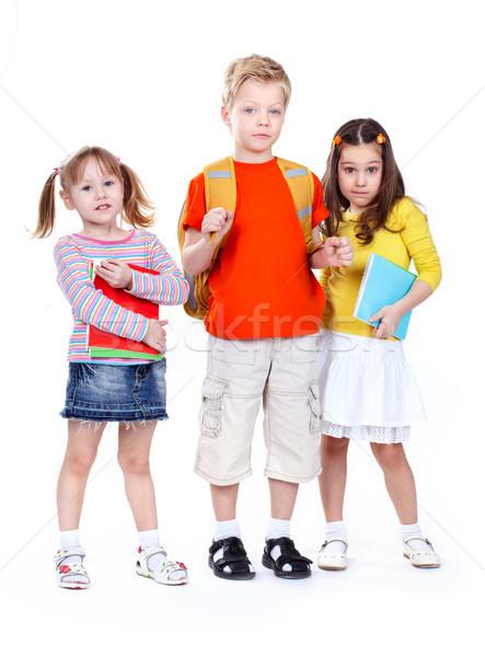 группа изолированный белый глядя друзей Сток-фото © pressmaster
