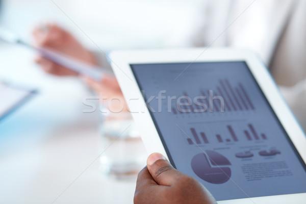 Touchpad işadamı eller iş el Stok fotoğraf © pressmaster