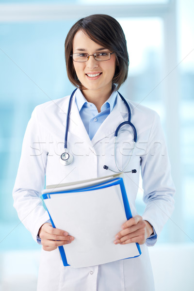 Clinician with documents Stock photo © pressmaster