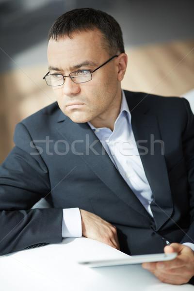 üzletember touchpad portré elegáns üzlet igazgató Stock fotó © pressmaster