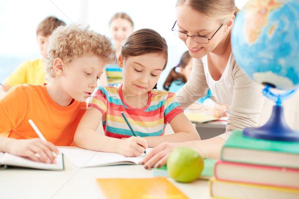 Pupils at lesson Stock photo © pressmaster