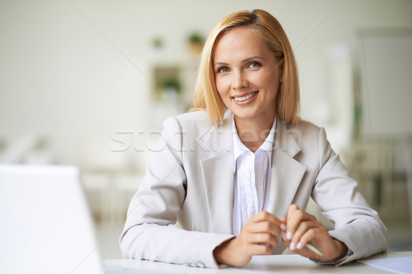 Businesswoman at workplace Stock photo © pressmaster