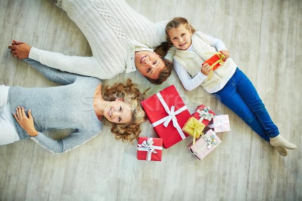 Family on the floor Stock photo © pressmaster