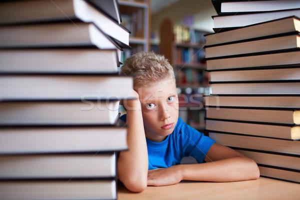 Serious scholboy Stock photo © pressmaster