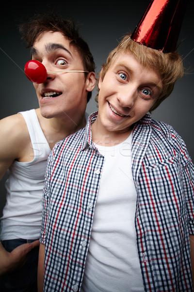 Stock fotó: Bolond · fiúk · kettő · vicces · srácok · néz