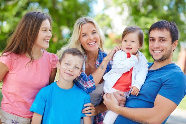единения фото счастливая семья отдыха улице человека Сток-фото © pressmaster