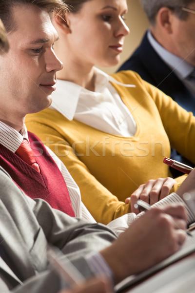 ビジネスマン 書く 要約 作業 女性 ビジネス ストックフォト © pressmaster