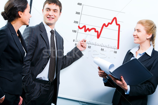 Stock photo: Business teaching