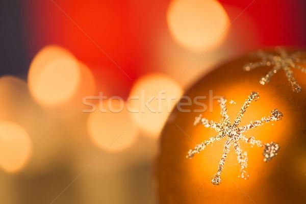 Golden snowflake Stock photo © pressmaster