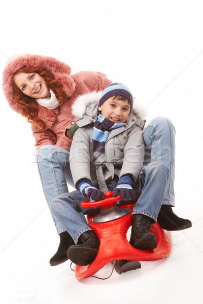 On sledge Stock photo © pressmaster