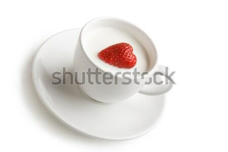 Stock fotó: ízletes · desszert · lövés · fehér · csésze · tele