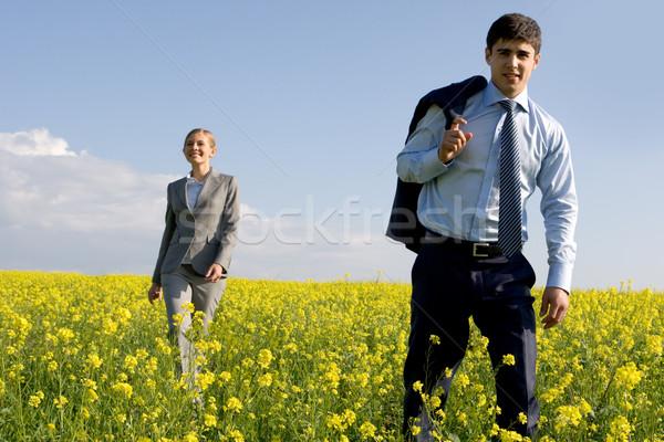 Сток-фото: бизнеса · лидера · портрет · красивый · довольно · сотрудник