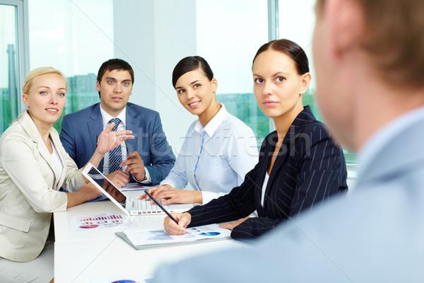 Attentive employees Stock photo © pressmaster