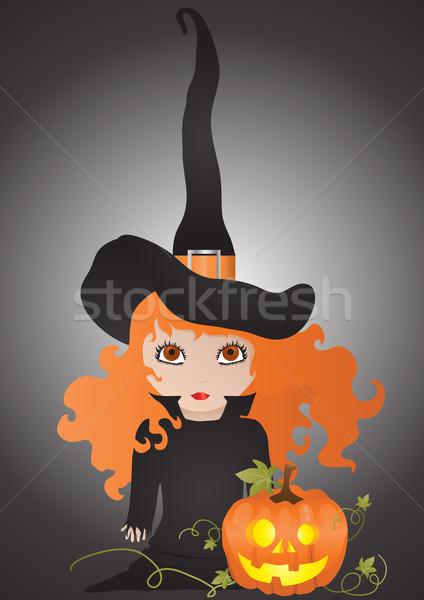 witch with pumpkin  Stock photo © pressmaster