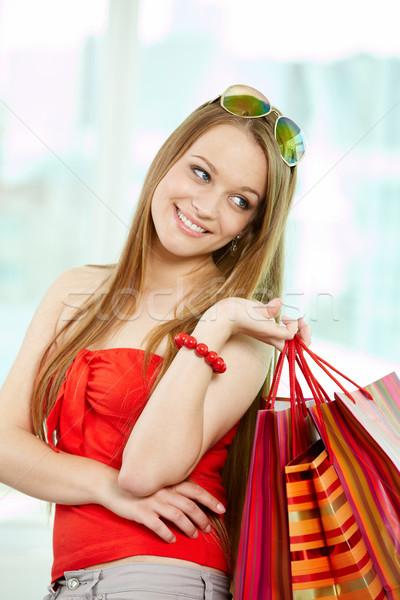 Shopper with bags Stock photo © pressmaster