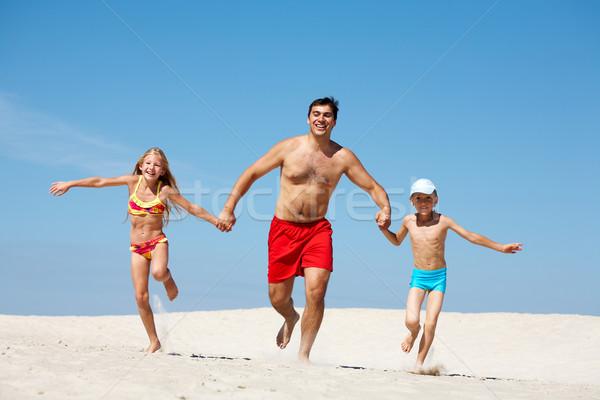 Stock photo: Family on vacation