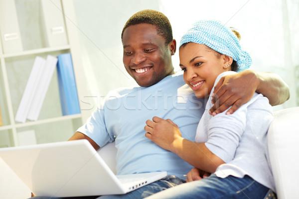インターネット マニア 画像 小さな アフリカ カップル ストックフォト © pressmaster