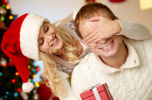 Verrassing portret gelukkig vrouw Stockfoto © pressmaster
