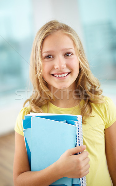 Schülerin Porträt heiter schauen Kamera Schule Stock foto © pressmaster