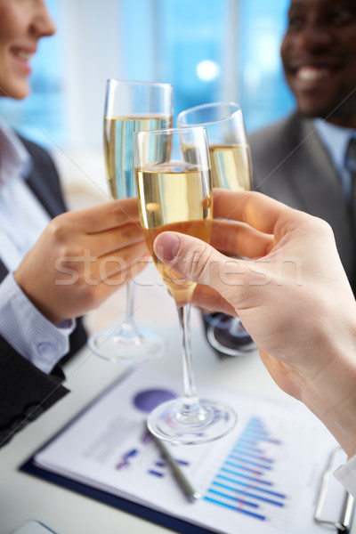 Toast for companionship Stock photo © pressmaster