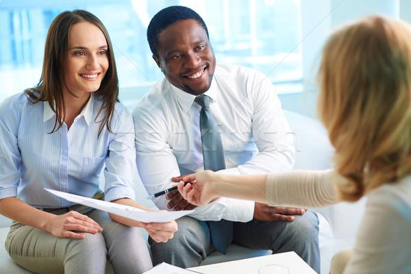 Financieros asesor resultados trabajo Foto stock © pressmaster