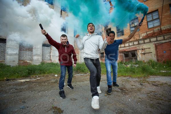 Woede rook portret woedend rebel Stockfoto © pressmaster