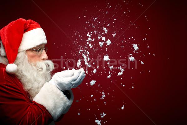 Noël se demander photo neige Photo stock © pressmaster