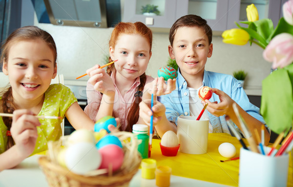 Easter creativity Stock photo © pressmaster