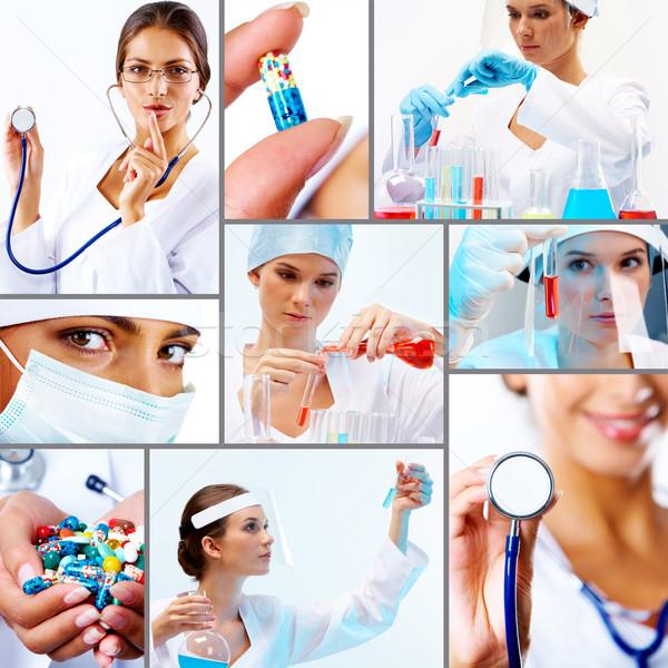 Сток-фото: коллаж · медицина · коллекция · медицинской · химического · профессионалов