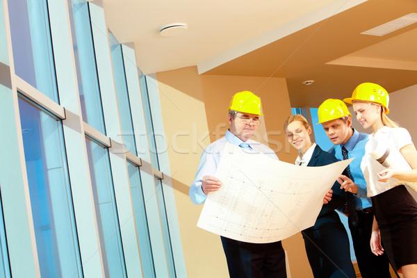 Foto stock: Trabajo · retrato · equipo · trabajadores