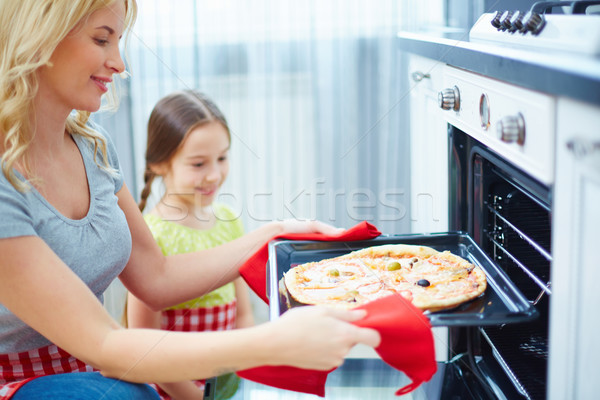 Mother and daughter cooking Stock photo © pressmaster