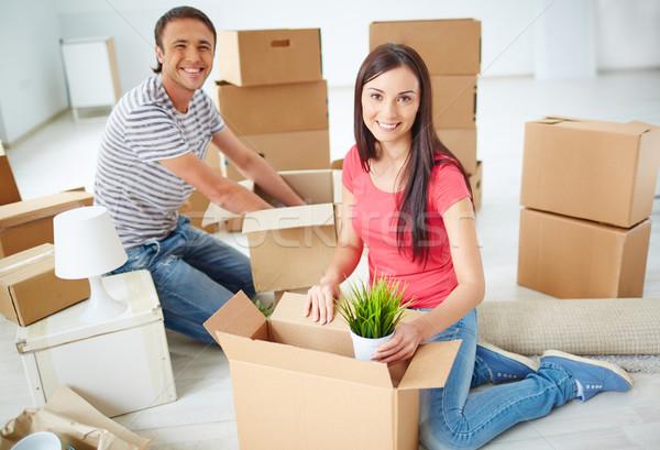 Unpacking boxes Stock photo © pressmaster