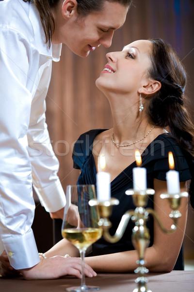 Tutku görüntü yakışıklı adam güzel bir kadın kadın Stok fotoğraf © pressmaster