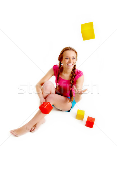 Playing with bricks Stock photo © pressmaster