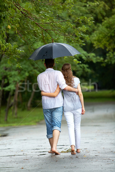 Walk in the rain Stock photo © pressmaster
