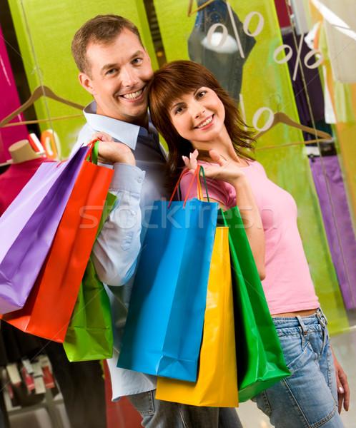 счастливым портрет улыбаясь камеры торговых Сток-фото © pressmaster