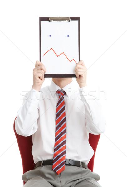 Zamieszanie portret szef papieru wyraz twarzy Zdjęcia stock © pressmaster