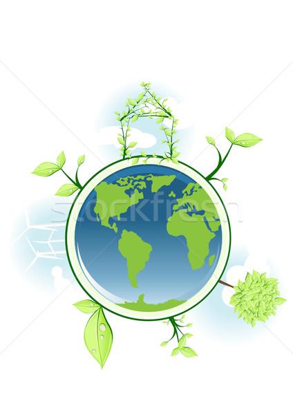 グローバル 保全 地球 家 世界中 デザイン ストックフォト © pressmaster