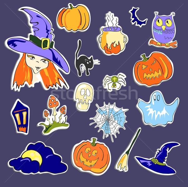 Halloween stickers  Stock photo © pressmaster