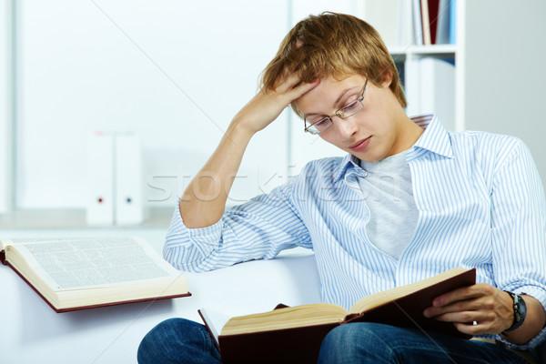 Serious reader Stock photo © pressmaster